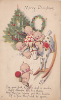 339/ Merry Christmas, Getekende Kaart, Onbekend Wie, Versje, Baby's Kerstboom - Kerstmis