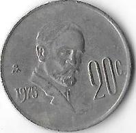 *mexico 20 Centavos  1975 Km 442 - Mexique