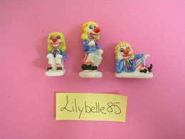 Série Complète De 3 Feves PERSO En Porcelaine LES WAGGIS 1998 CLOWNS / GEANTS ( Feve Figurine Miniature ) RARE - Characters