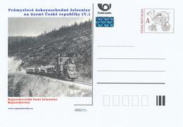 Rep. Ceca / Cart. Postali (Pre2015/08) Ferrovie A Scartamento Ridotto (V.) Rajnochovice, Ferrovia Forestale (1) - Fabbriche E Imprese