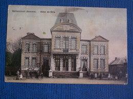 CPA  HALLENCOURT  //  Hotel De Ville --  Toilée  Colorisée - France
