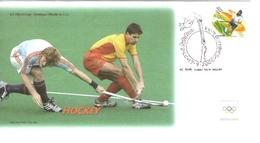 FDC India Hockey Su Prato Olimpiadi Sydney Australia Olimpic Games - FDC