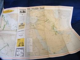 MONDOSORPRESA, (LB20) MAPPA CARTOGRAFICA ZONA ARABA CENTRO OVEST POSSEDIMENTI OLIO E GAS 1971 - Carte Topografiche