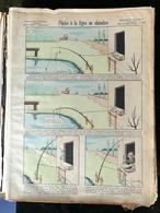 IMAGERIE PELLERIN D'EPINAL - PÊCHE À LA LIGNE EN CHAMBRE (Illust. BENJAMIN RABIER) - Série Aux Armes D'Epinal N°233 - - Old Paper