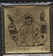 GAMBIA 2005 POPE,PAPA GIOVANNI PAOLO II - GOLDEN STAMP - Gambia (1965-...)