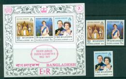 Bangladesh 1977 Silver Jubilee + MS MUH Lot30283 - Bangladesh