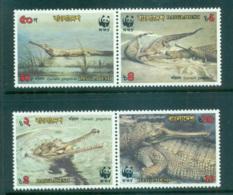 Bangladesh 1990 WWF Gharial Pairs MUH Lot64020 - Bangladesh