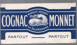 Buvard COGNAC MONNET La Salamandre (PPP9232) - Food