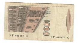 Italy 1000 Lire Marco Polo XF 045450 C Sostitutiva / Replacement - 1000 Lire