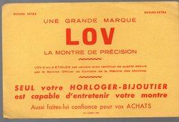 Buvard LOV  La Montre De Précision (PPP9233) - Vloeipapier