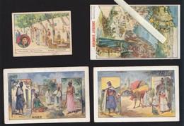 Chromo Fin XIXè - Lot De 4 - Colonies Francaises - Tunisie, Niger, Algerie, - Unclassified