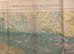 Carte Géologique Des Pyrénées Par Margerie Et Schrader (PPP9235) - Maps