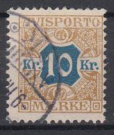 DENEMARKEN - Michel - 1907 - Nr 10 X (12 3/4) - Gest/Obl/Us - Fiscali