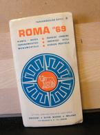 MONDOSORPRESA, (LB20) MAPPA CARTOGRAFICA ROMA 1969 - Carte Topografiche