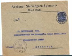 Kaiserreich XX002a / (1900-1918) Germania Kriegsausgabe 20 Pfg. 1917, Firmenpost Aachen - Enschede/Nl. Zensur - Allemagne