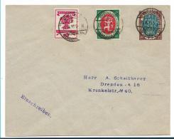 Republik XX001 / (1919-1923) Weimar National-Versammlung Mit Sonderstempel Auf PrivatGA + Marken - Allemagne