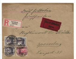 Republik XX002 / (1919-1923), Spremberg, Eilboten-Einschreiben M, Kriegsbeschädigtenaufdruck, Mi.Nr.v.05 +b106,  1919 - Allemagne
