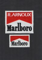E51 - Sport Automobile - Ecusson X 2 - R. ARNOUX - Cigarettes MARLBORO - Ecussons Tissu
