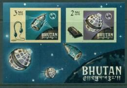 Bhutan 1966 Telstar ITU IMPERF MS MUH Lot21416 - Bhutan