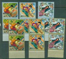 Bhutan 1967 Girl Scouts IMPERF Pairs MUH Lot21404 - Bhutan