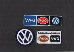 E53 - Sport Automobile - Ecusson X 3 - Concessionnaires AUDI X V.A.G X W - Ecussons Tissu