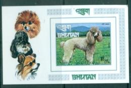 Bhutan 1972 Dogs (1) IMPERF MS MUH - Bhutan