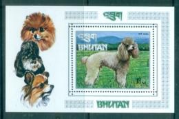 Bhutan 1972 Dogs (1) MS MUH - Bhutan