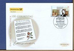 GERMANY - FDC 2004 - ENGELBERT  HUMPERDINCK - MÄNNLEIN IM WALDE - Hansel E Gretel - Muziek