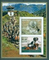 Bhutan 1972 Dogs (2) IMPERF MS MUH - Bhutan