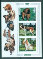 Bhutan 1972 Dogs (3) IMPERF MS MUH - Bhutan