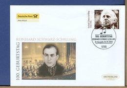GERMANY - FDC 2004 - REINHARD SCHWARZ SCHILLING - Muziek