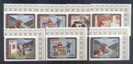 Bhutan 1973 Bhutanese Mail Service (7/8, No 25ch) IMPERF MUH - Bhutan