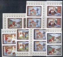 Bhutan 1973 Bhutanese Mail Service (7/8, No 25ch) IMPERF Prs MUH - Bhutan