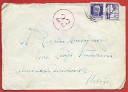 LETTERA VG ITALIA - ORDINARIA Propaganda Guerra - Vittoria Tripartito - 12 X 15 - ANN. 1943 VERIFICATO PER CENSURA - 1900-44 Victor Emmanuel III