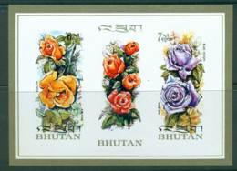 Bhutan 1973 Flowers Perfumed IMPERF MS MUH Lot21414 - Bhutan