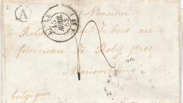 378/27 - Lettre Non Affranchie FIVES LILLE 1853 Vers ROLY Par MARIEMBOURG Noir - Entrée FRANCE Par MOUSCRON Noir - Poststempels/ Marcofilie