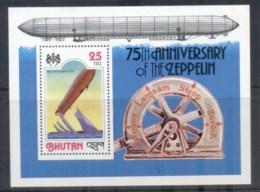 Bhutan 1978 Zeppelin 75th Anniv MS MUH - Bhutan