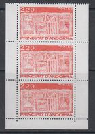 Andorra Fr. 1987 Definitives 3v From Booklet ** Mnh (40651A) - Frans-Andorra