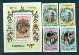 Bhutan 1981 Charles & Diana Wedding +MS  MUH Lot44809 - Bhutan