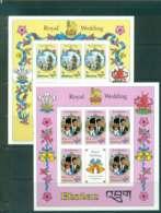 Bhutan 1981 Charles & Diana Wedding Sheetlets IMPERF (2) MUH Lot44814 - Bhutan