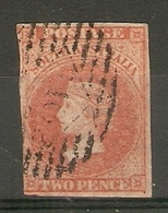 SOUTH AUSTRALIA 1856 2d RED SG 9 FINE USED Cat £40 - 1855-1912 South Australia
