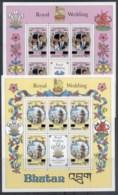 Bhutan 1981 Royal Weddind, Charles & Diana Opt Sheetlets MUH - Bhutan