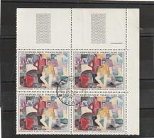 Timbres Francais Oblitérés En Algérie Alger 19 2 1962 , N° 1322 Bloc De Quatre - Algerije (1924-1962)