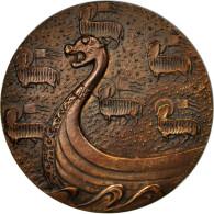 France, Médaille, Chambre De Commerce De Rouen, Coeffin, SPL, Bronze - France