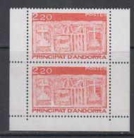 Andorra Fr. 1987 Definitives 2v From Booklet ** Mnh (40651B) - Frans-Andorra