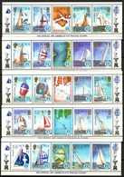 Vela Solomon Islands America's Cup Postage Stamps 1987 Isole Salomone - Zeilen