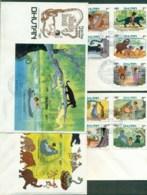 Bhutan 1983 Disney, The Jungle Story 3x FDC Lot78924 - Bhutan