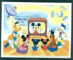 Bhutan 1983 Disney, World Communications Year, Mickey Mouse MS MUH Lot77471 - Bhutan