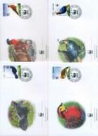Bhutan 2003 WWF Bhutanese Pheasants 4x FDC Lot73208 - Bhutan