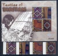 Bhutan 2009 Textiles + MS - Bhutan